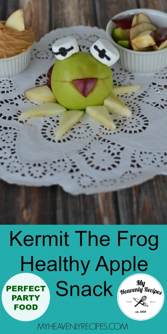 Kermit The Frog Healthy Apple Snack Pinterest