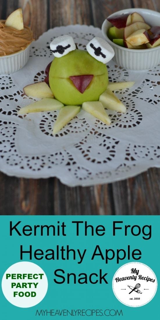 Kermit The Frog Healthy Apple Snack Pinterest