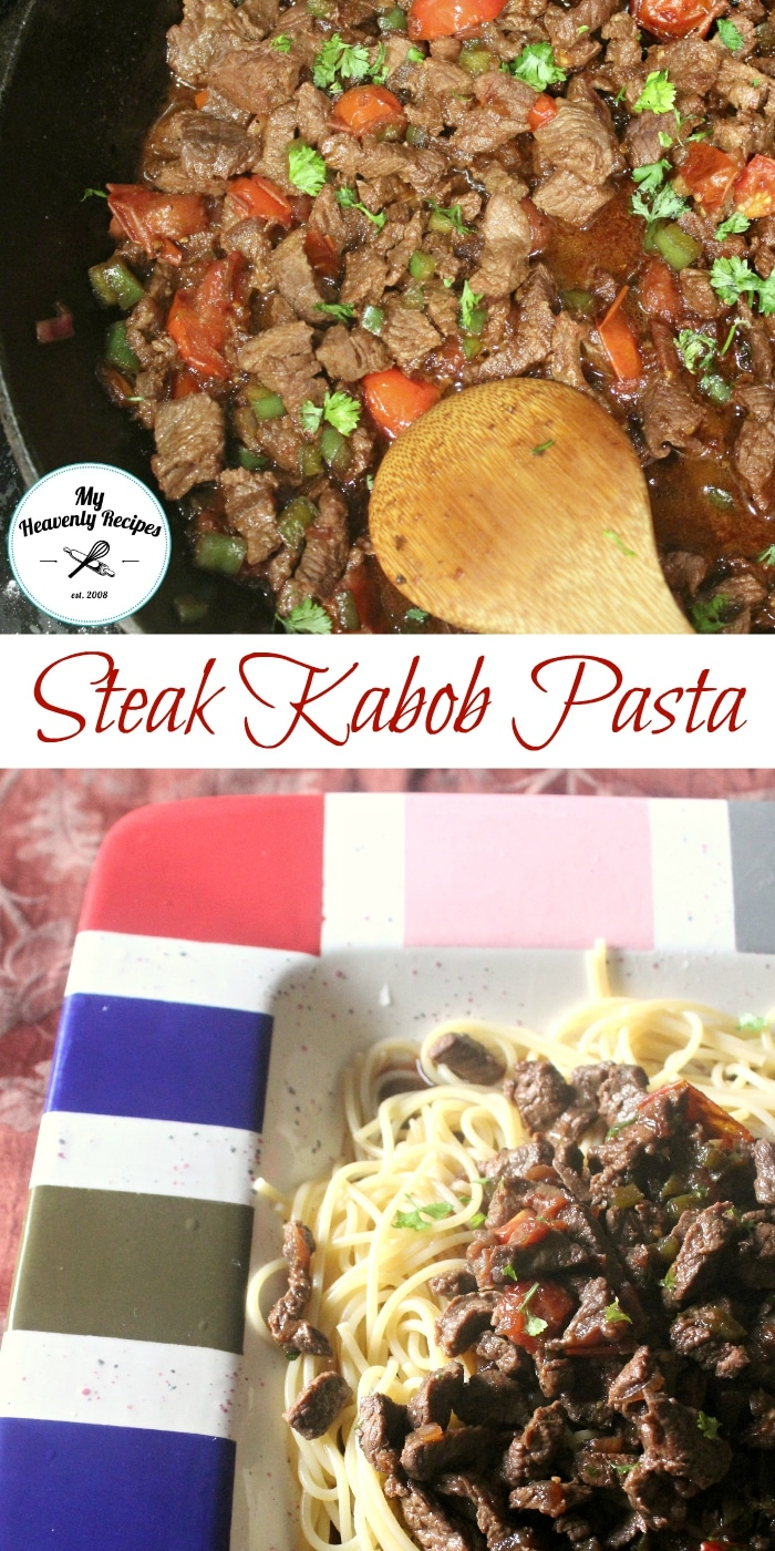 Leftover Steak Kabobs Make up this Steak Kabob Pasta Recipe