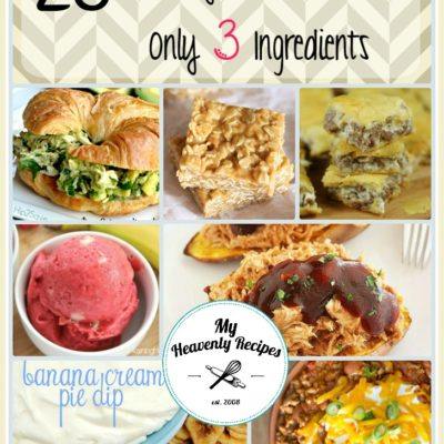 photo collage of easy 3 ingredient recipes