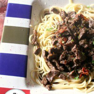 Steak Kabob Pasta