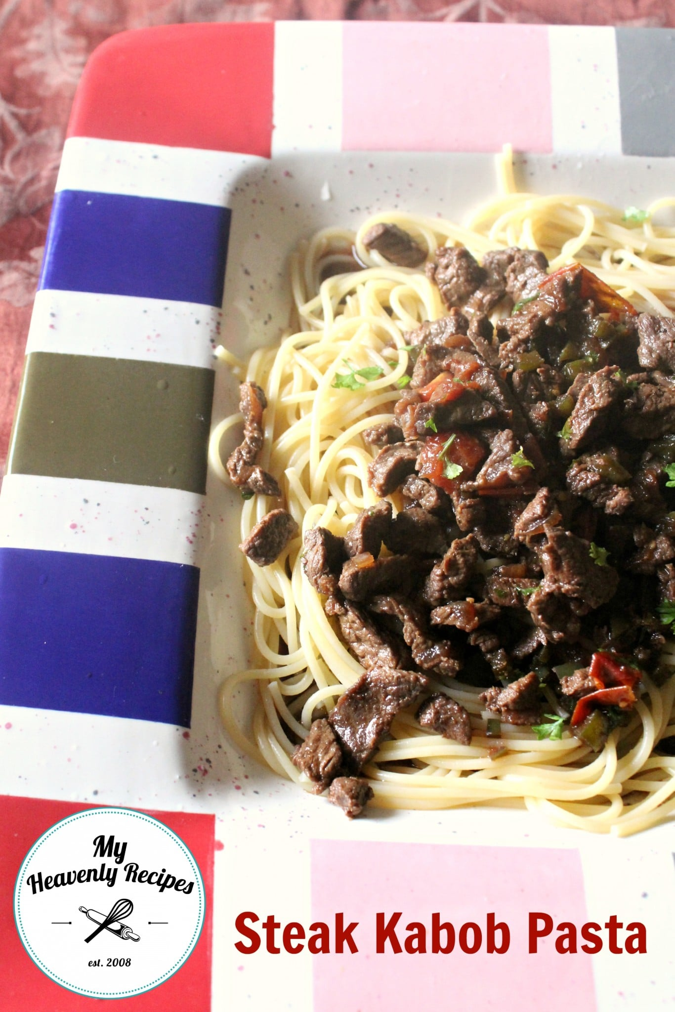 Steak Kabob Pasta Recipe