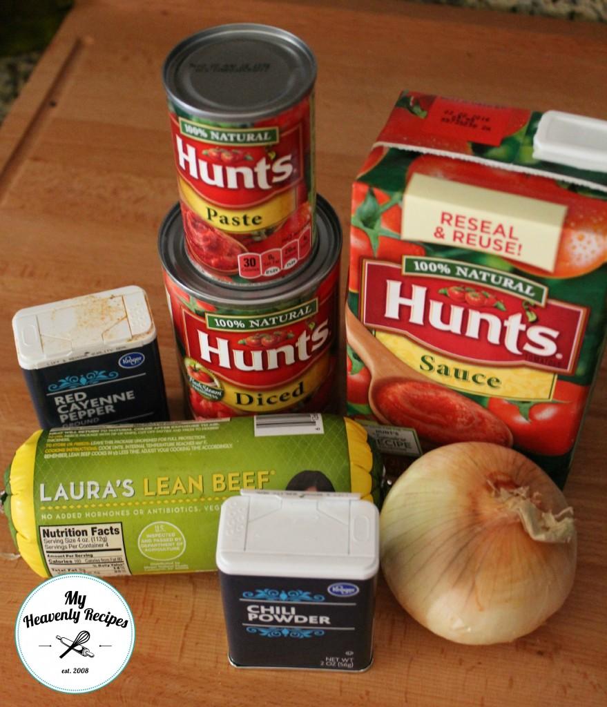 Super Simple Chili Ingredients