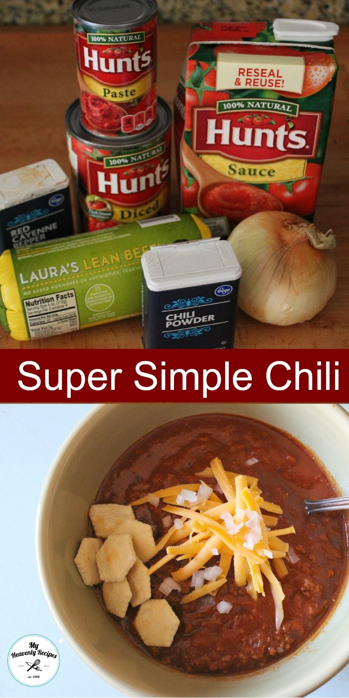 Super Simple Chili Ingredients and Chili