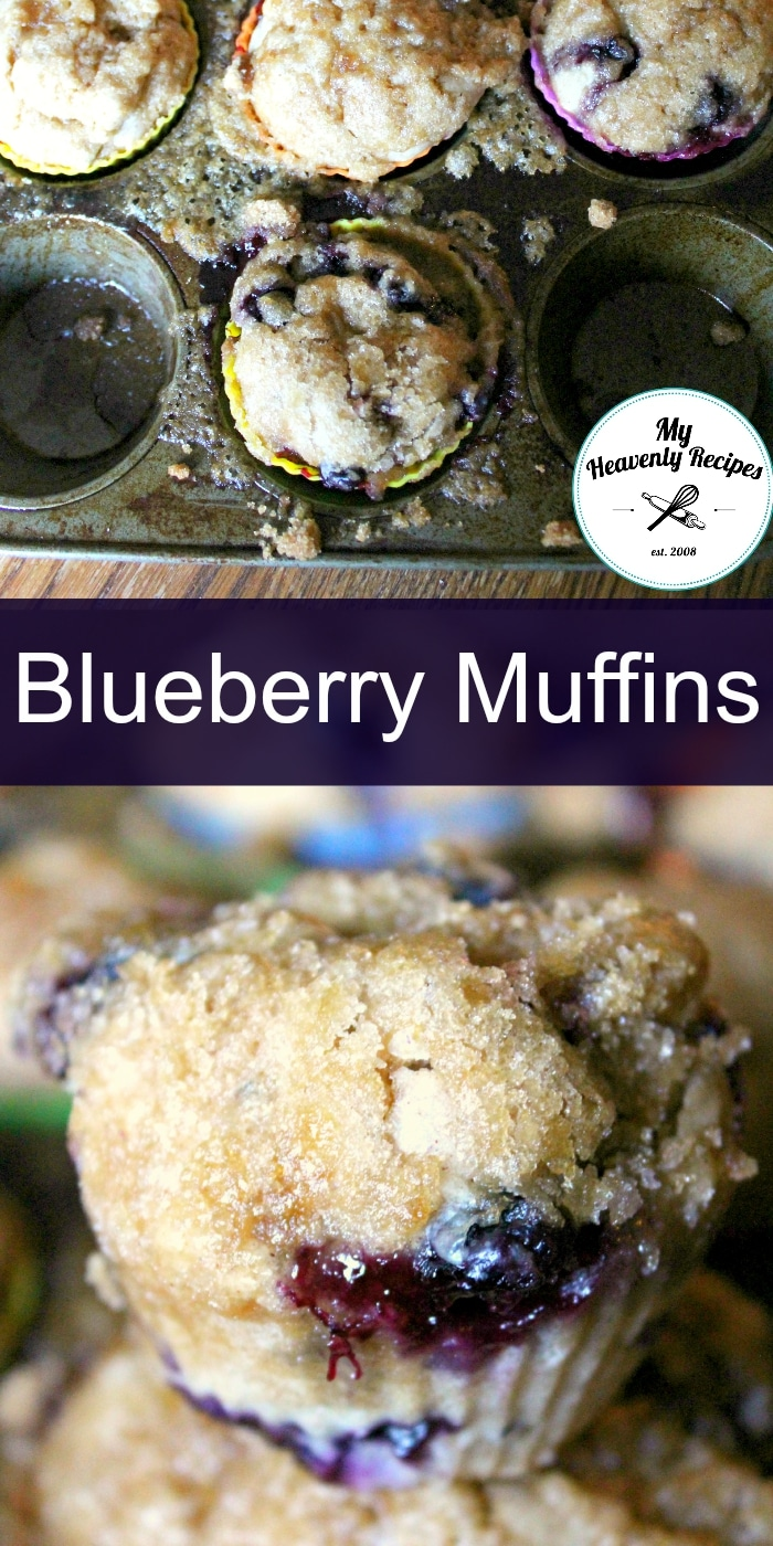 These Blueberry Muffins are a perfect recipe for breakfast, lunch or snack time