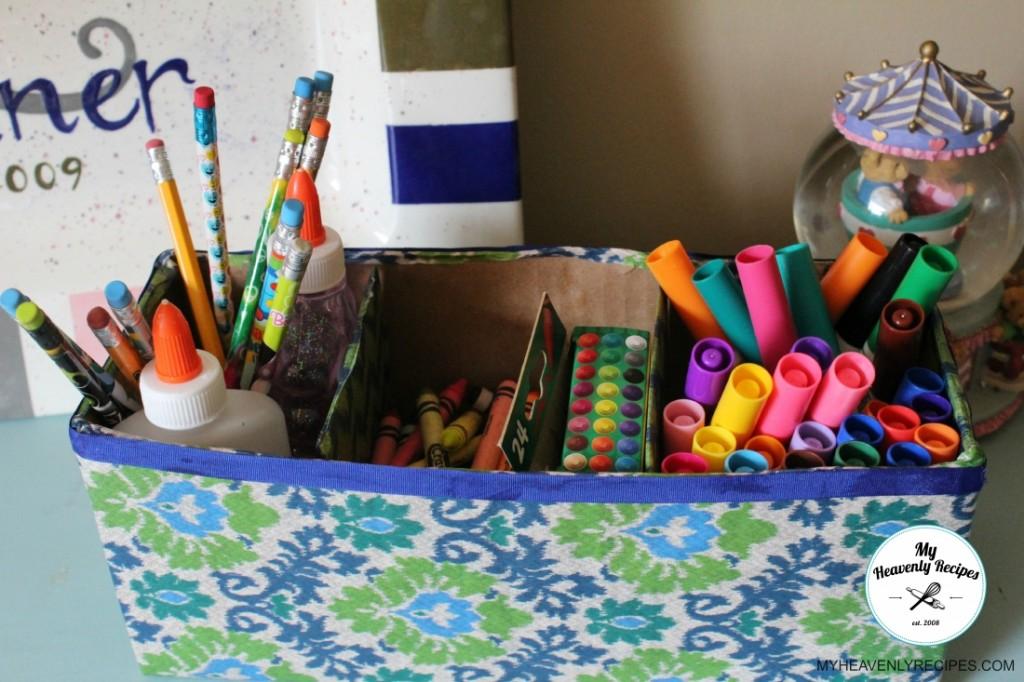 Upcycled Storage Box Close Up Inside