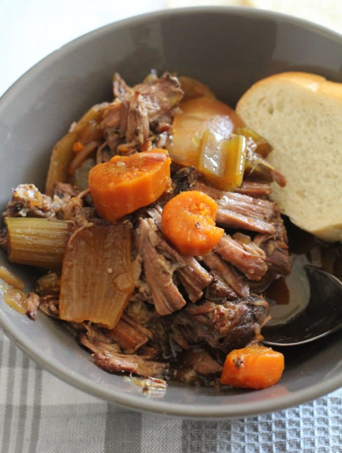 You have to try my Grandmothers Crock-Pot Pot Roast Recipe. Its comfort food at its finest!