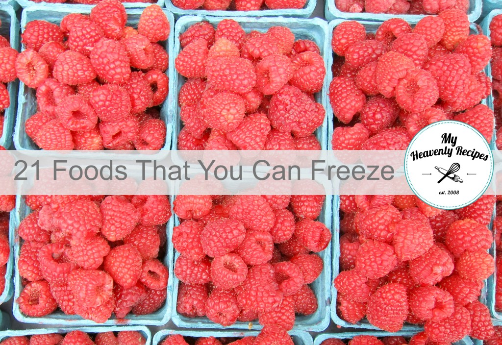 21 Foods That You Can Freeze
