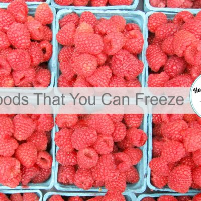 titled photo: 21 Foods that You Can Freeze