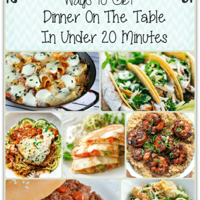 photo collage of simple dinner ideas