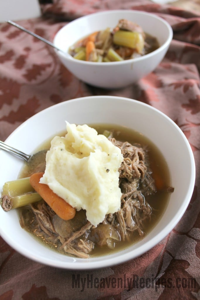 Crock Pot Pot Roast Topped with Mashed Potatoes Recipe