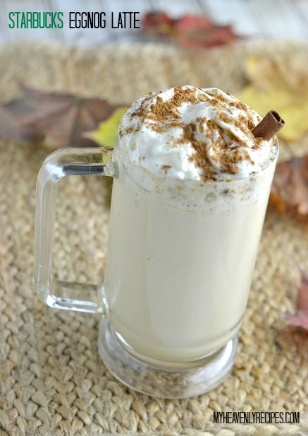 homemade version of a Starbucks eggnog latte