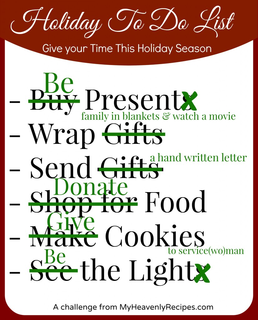 Give Your Time This Holiday Season Challenge