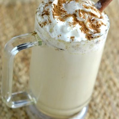 homemade version of Starbucks eggnog latte