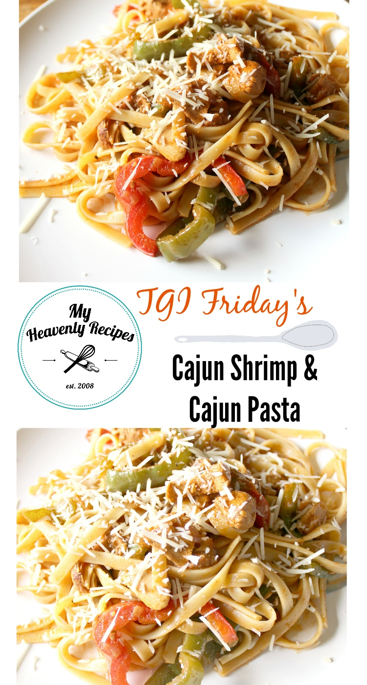 This Cajun Chicken Pasta recipe tastes AMAZING! It's a copycat recipe of TGI Friday's Cajun Shrimp and Chicken Pasta recipe with double the chicken and no shrimp (but feel free to add shrimp!). #cajunchicken #cajunpasta #tgifridays #copycat #copycatrecipe