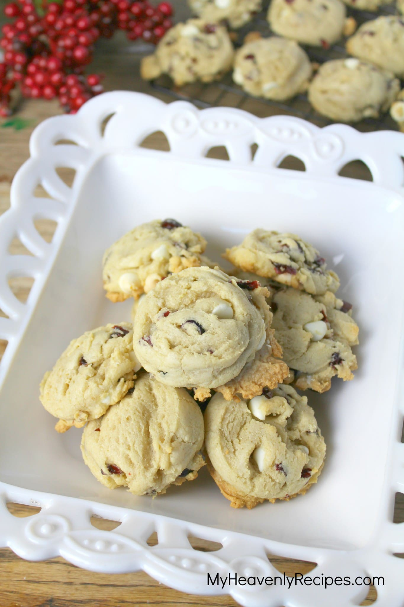 Christmas Cookies White Chocolate Chip & Cranberries