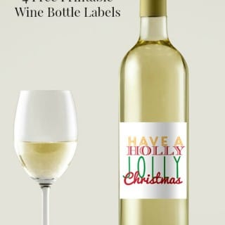 4 Printable Wine Bottle Labels