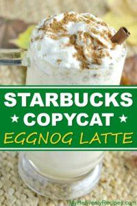 starbucks eggnog latte copycat featured image