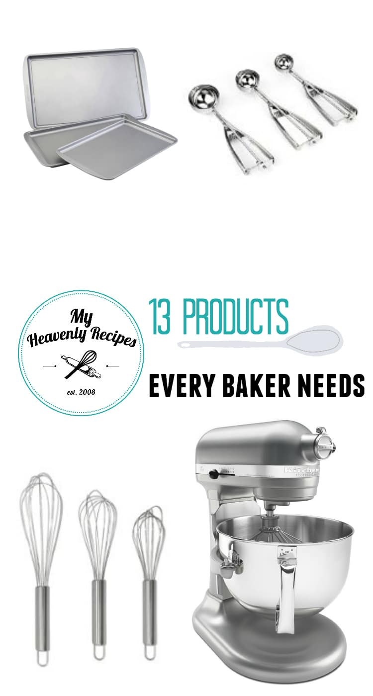 13 Baking Essentials titled photo collage
