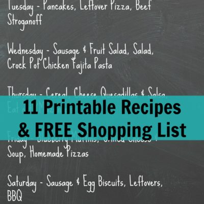image with Weekly Meal Plan Ideas