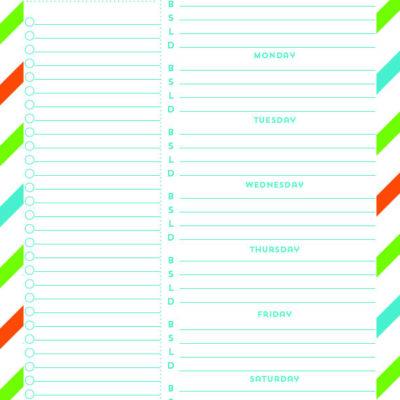 weekly meal plan free printable