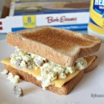 Sausage Egg and Cheese Vertical Breakfast Sandwich