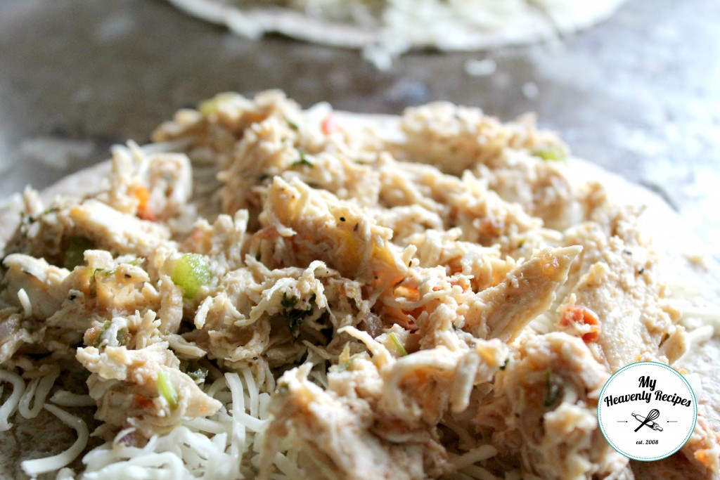 Mexican shredded chicken for quesadillas