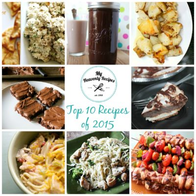 Top 10 Recipes of 2015 (photo collage)
