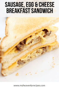 sausage sandwich with toasted bread