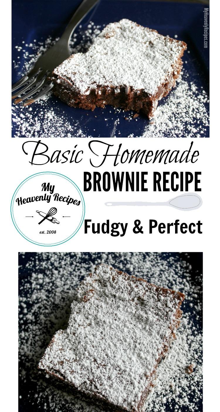 Basic Homemade Brownie Recipe