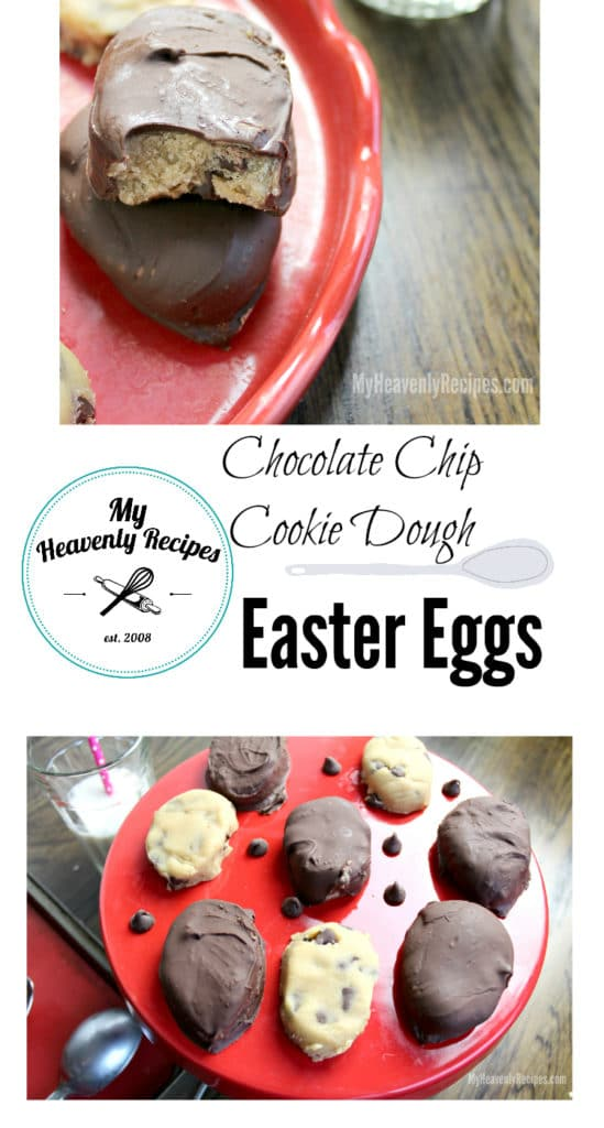 Chocolate Chip Cookie Dough Easter Eggs- photo collage