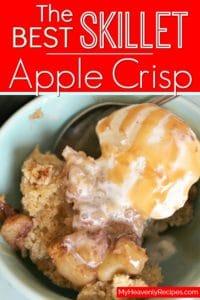 skillet apple crisp pinterest image