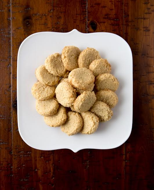 gluten free 3 ingredient cookies on a white plate