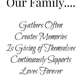 Our Family Free Printable