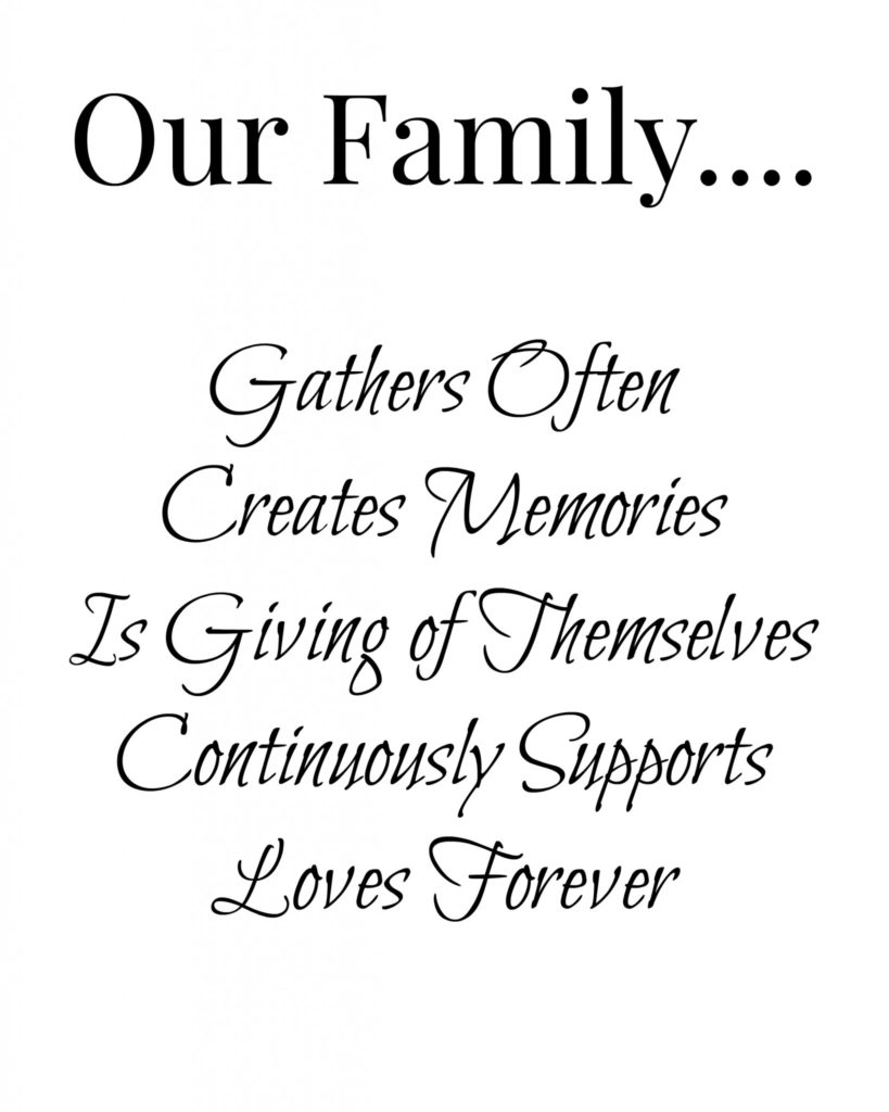 8x10 Our Family