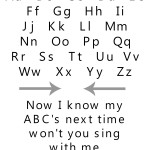 ABC Song Free Printable