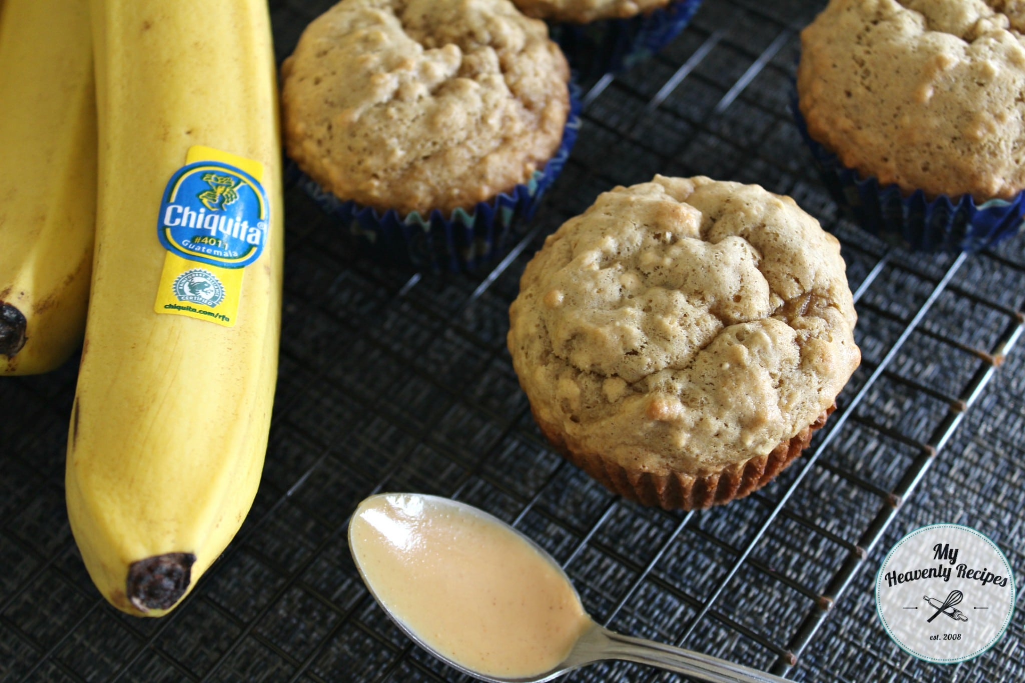 Banana Oat Muffin with Peanut Butter