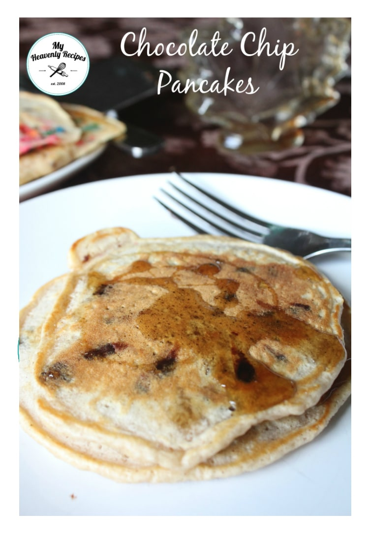Chocolate Chip Pancakes - Light and fluffy homemade pancakes that can handle the chocolate chips.