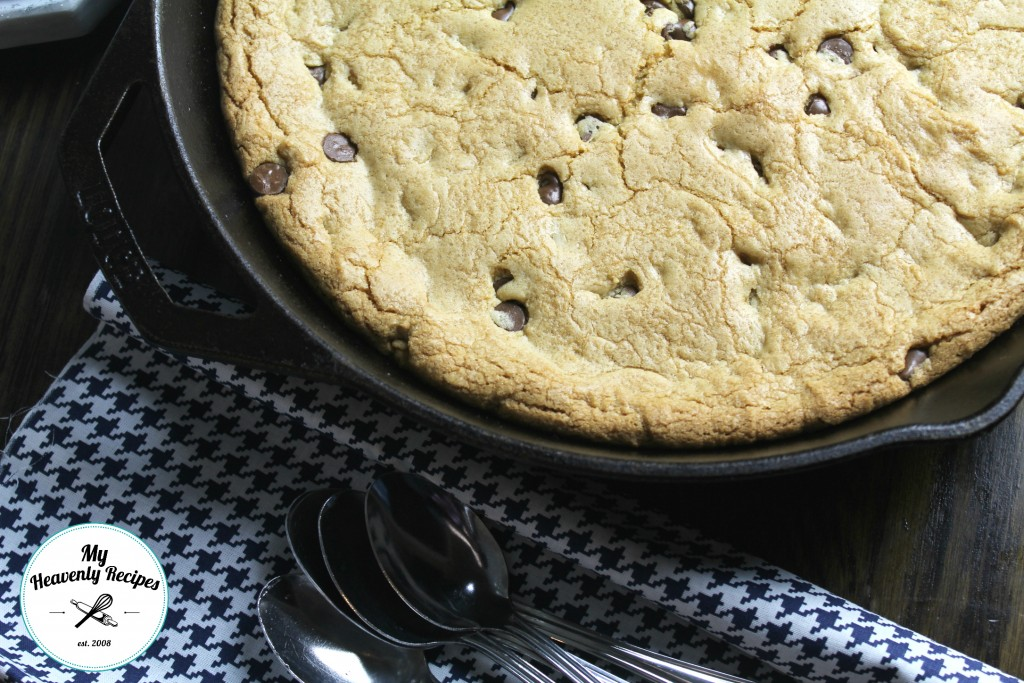 Chocolate Chip Skillet Cookie Close up