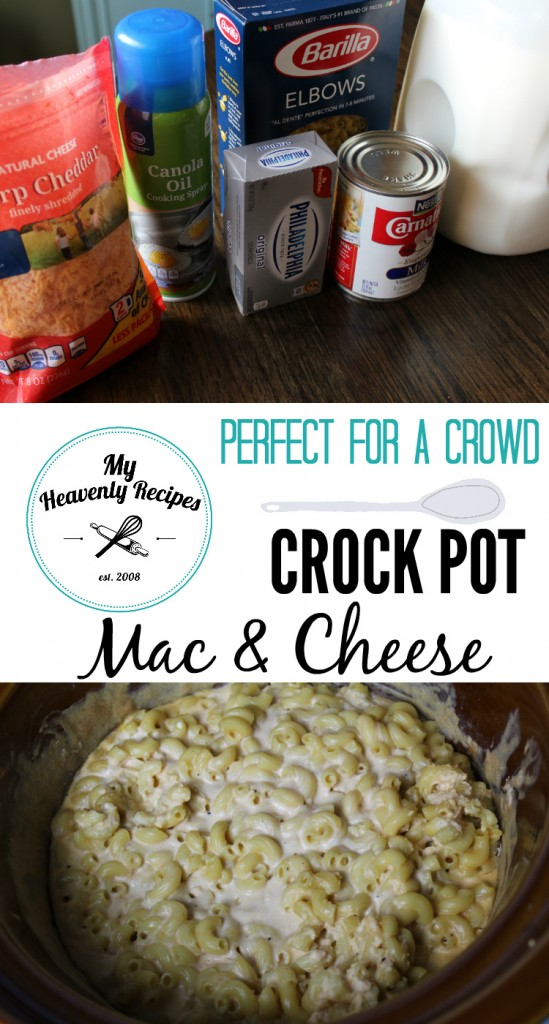 Crock Pot Mac and Cheese photo collage