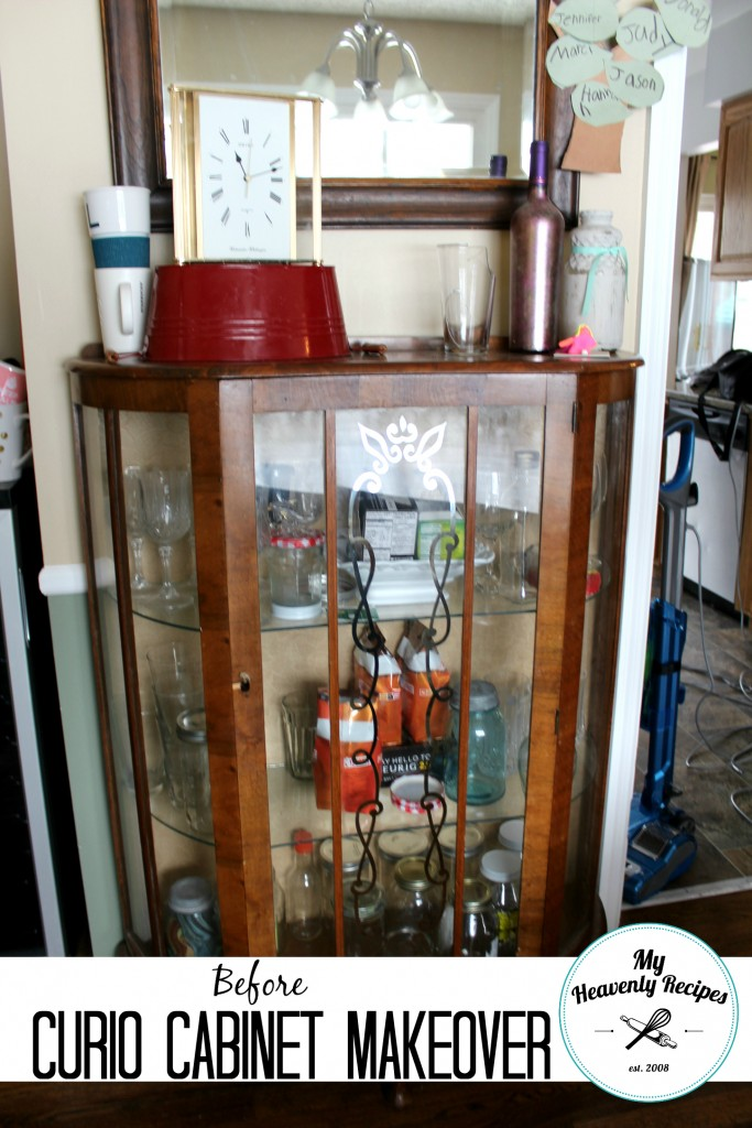 Curio Cabinet Makeover Before
