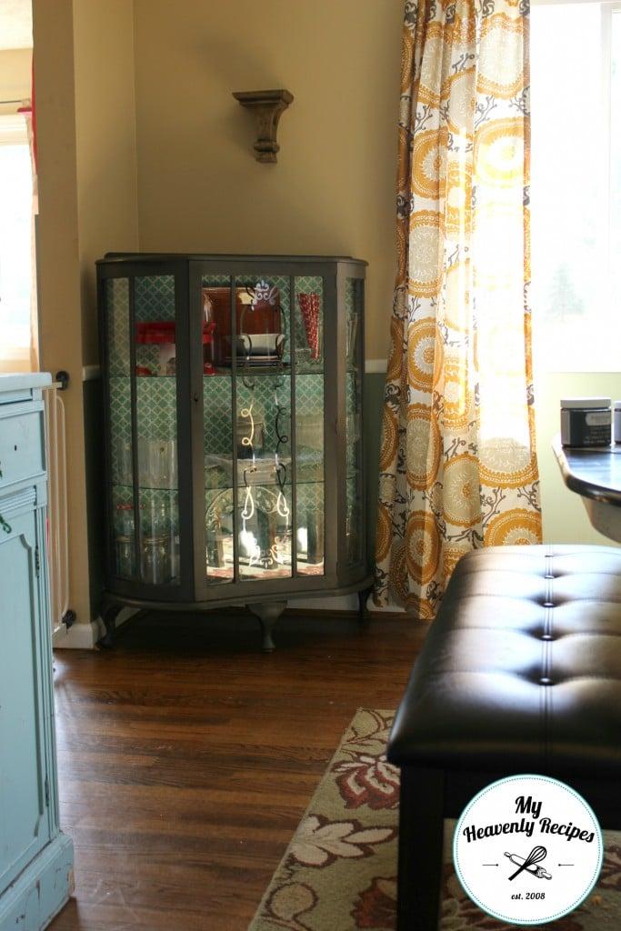 Curio Cabinet Makeover Corner