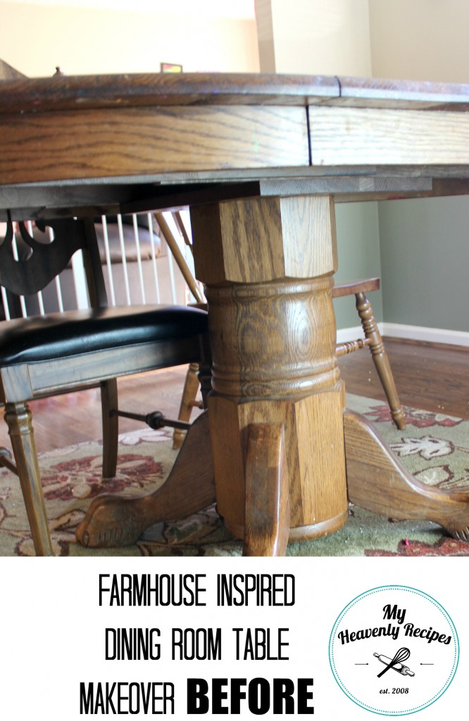 Dining Room Table Makeover Before