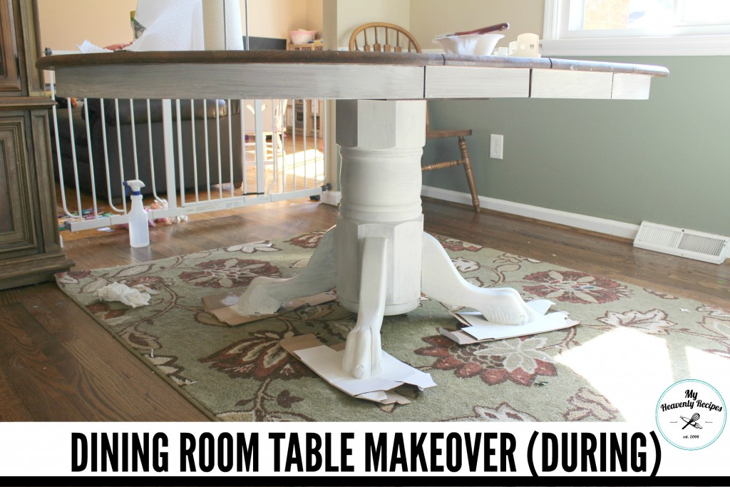 Dining Room Table Makeover During