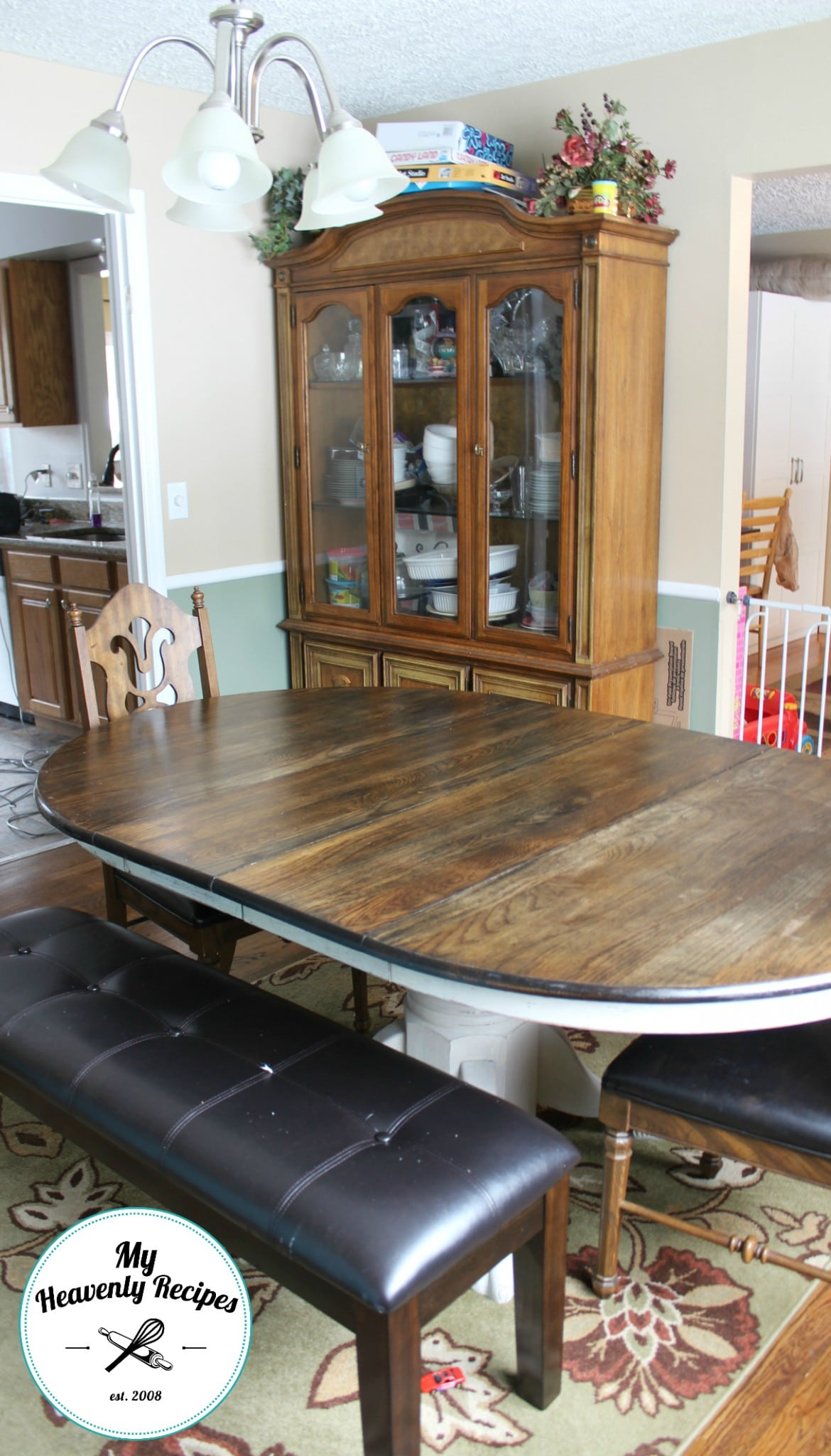 Farmhouse inspired dining room table makeover my for My dining room