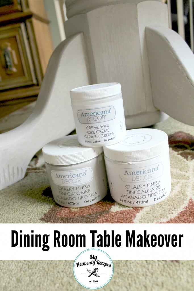 creme wax for a dining table makeover