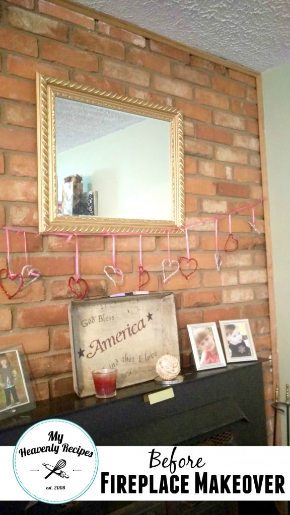 Fireplace Makeover Using Chalk Paint My Heavenly Recipes