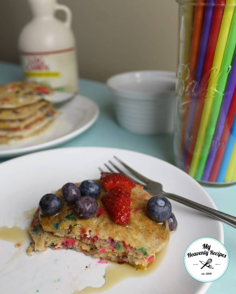 Funfetti Pancakes with Fruit