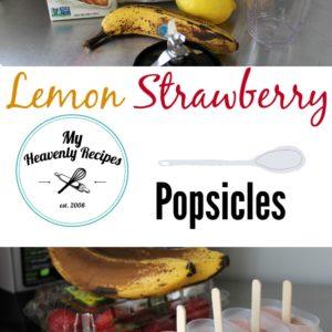 Lemon Strawberry Popsicles + Video