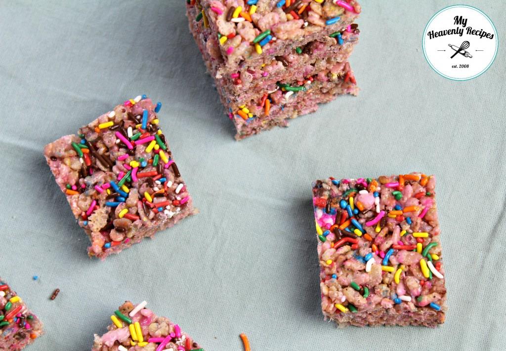 Rainbow Sprinkle Rice Krispies Treats